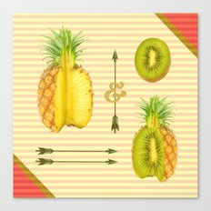 what if a pineapple fall in love with a kiwi ? Canvas Print