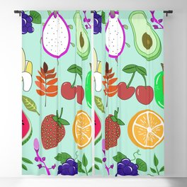 Cute Fruit Pattern Bright Happy Kawaii Blackout Curtain