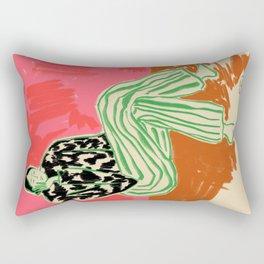 CALM WOMAN PORTRAIT Rectangular Pillow