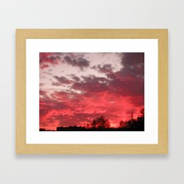 Bloody sunset Framed Art Print