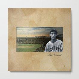 Red Sox Ted Williams baseball montage vintage Metal Print