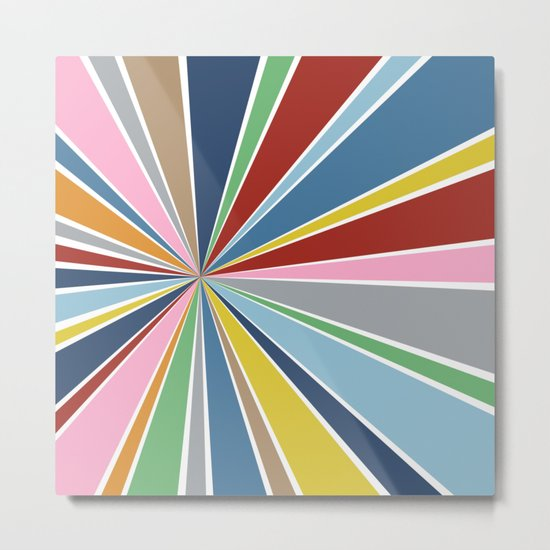 Star Burst Color Metal Print