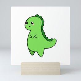 Kawaii Cute T-rex Mini Art Print