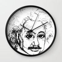 chibi Wall Clocks featuring Chibi Einstein by Hazel Bellhop