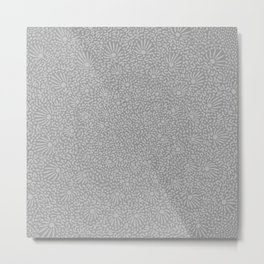 Touch of Grey Pattern Metal Print