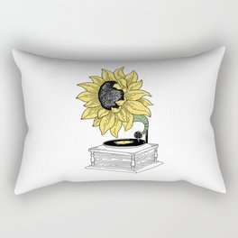 Singing in the sun Rectangular Pillow