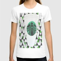 starbucks T-shirts featuring Starbucks Mermaid  by Clawson Creatives