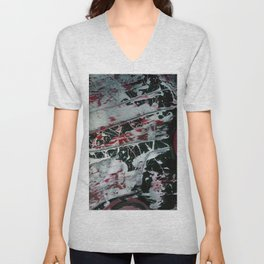 Black Pearl Abstract Ship At Night | Black and White Abstract | Corbin Henry Unisex V-Neck