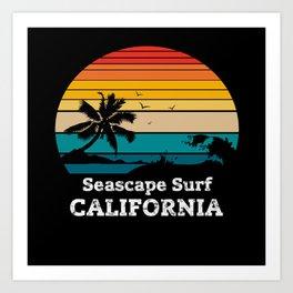 Seascape Surf CALIFORNIA Art Print