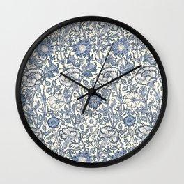 William Morris Navy Blue Botanical Pattern 6 Wall Clock