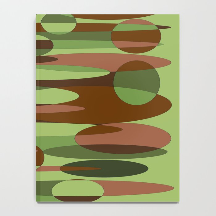 Trendy Green and Brown Camouflage Spheres Notebook