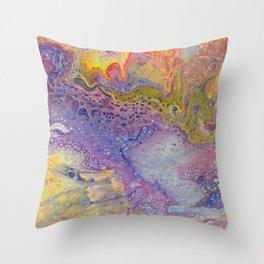 Acrylic Pour III Throw Pillow