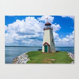 The Lake Hefner Lighthouse, Oklahoma City Canvas Print