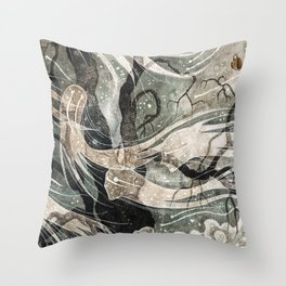 Do not draw their attention Throw Pillow