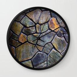Mosaic Stone Wall Wall Clock