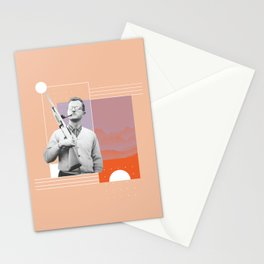 PJ with a Pipe Stationery Cards