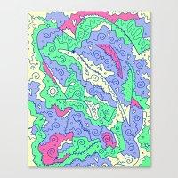 hufflepuff Canvas Prints featuring Hufflepuff by Amanda Trader