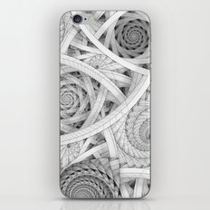 GET LOST - Black and White Spiral iPhone & iPod Skin