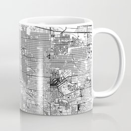 Denver White Map Coffee Mug