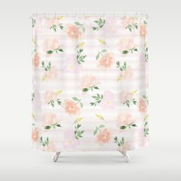 Gigi Collection - Peach Peony Shower Curtain