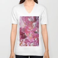 minerals V-neck T-shirts featuring Pink Gemstone by Kristiana Art Prints