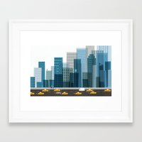 cityscape Framed Art Prints featuring Cityscape by Keith Negley