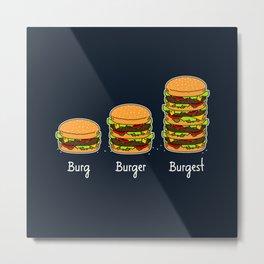 Burger explained 2. Burg. Burger. Burgest. Metal Print