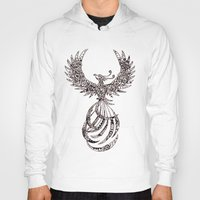 steam punk Hoodies featuring Steam Punk Pheonix by Paviash