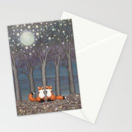 dreamy foxes Stationery Cards