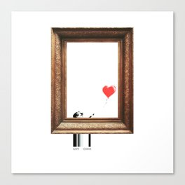 girl with balloon banksy Canvas Print