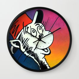 Portrait of a Cat in a Hat Wall Clock