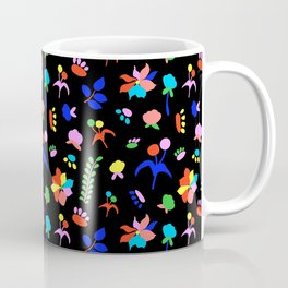 Groovy Prairie Bouquet in Black Coffee Mug
