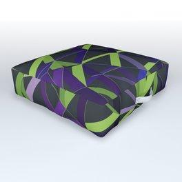 3D Futuristic GEO Lines XIV Outdoor Floor Cushion