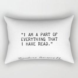 Theodore Roosevelt quotes Rectangular Pillow