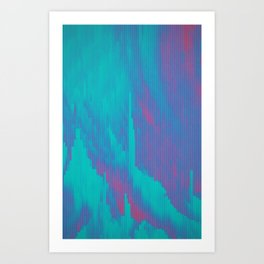 Glitched v.7 Art Print