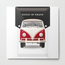 Combi van red Metal Print