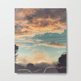 Evening commute Metal Print