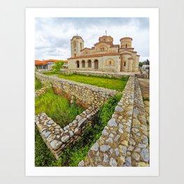 Saint Panteleimon, Ohrid, Macedonia Art Print