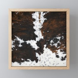 Brown Cowhide, Farmhouse decor Framed Mini Art Print