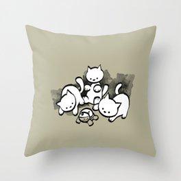minima - mow Throw Pillow