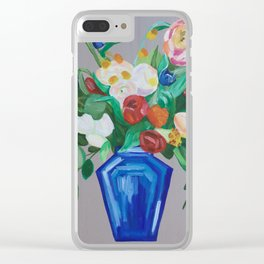 Traditional Dutch Floral Arrangement Acrylic Painting Clear iPhone Case