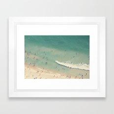 beach love II - Nazare Framed Art Print