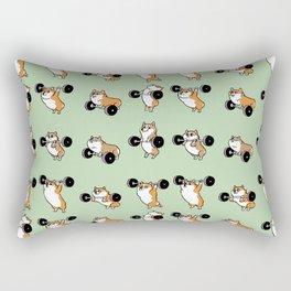 Olympic Lifting Corgi Rectangular Pillow
