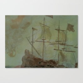 Ship - 13, Aug. 2010 - Tonight's Watercolor Canvas Print