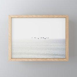 Sailboats regatta seascape Framed Mini Art Print