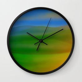 Hillscape Sunset Wall Clock