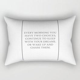 Aston Kusner Every Morning You 203 Watercolor Map Rectangular Pillow