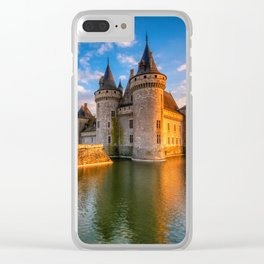 Castle Sully sur Loire at sunset, Loire valley, France Clear iPhone Case