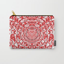 Illusionary Daisy (Red) Carry-All Pouch