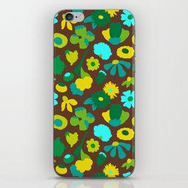 Mod Woodland Floral in Brown iPhone Skin
